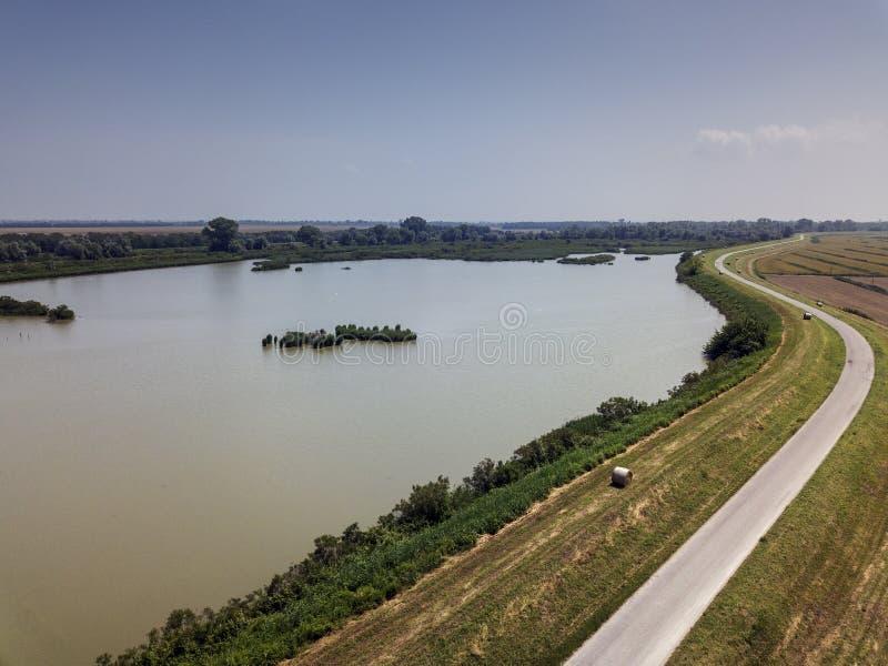 威尼托的波河 库存照片
