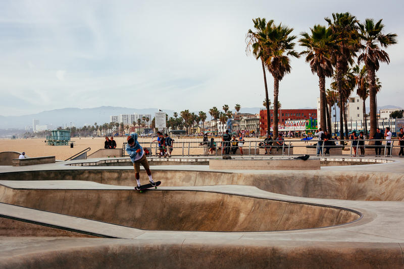 威尼斯冰鞋公园,威尼斯海滩的,洛杉矶,加利福尼亚 库存图片