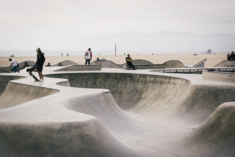 威尼斯冰鞋公园,威尼斯海滩的,洛杉矶,加利福尼亚 免版税库存图片
