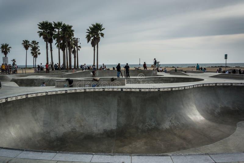 威尼斯冰鞋公园,威尼斯海滩的 免版税库存图片