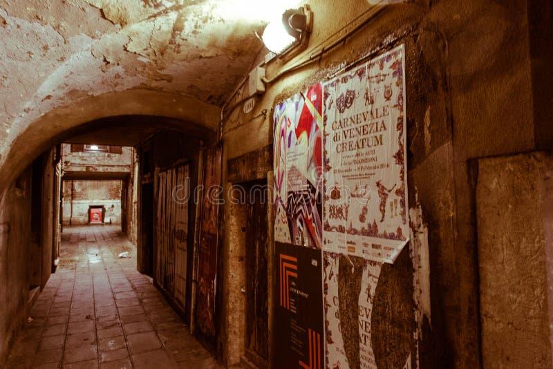 威尼斯参观,当游人不在那里 免版税库存图片