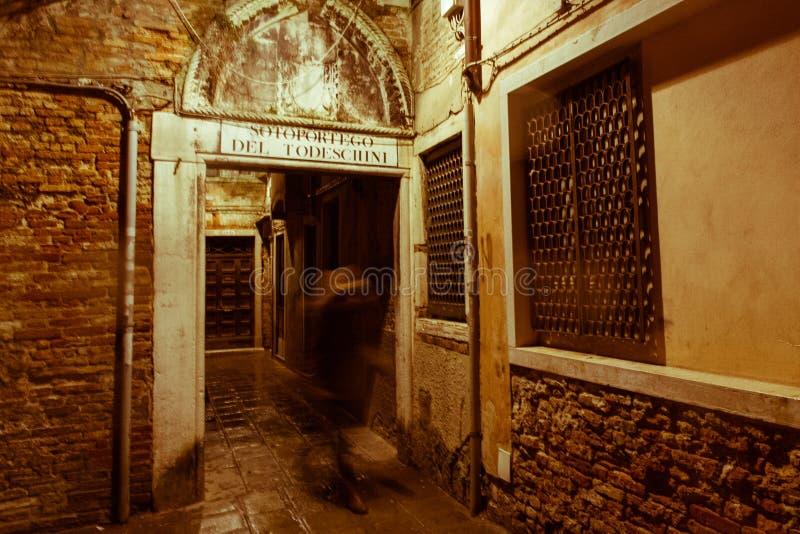 威尼斯参观,当游人不在那里 库存图片