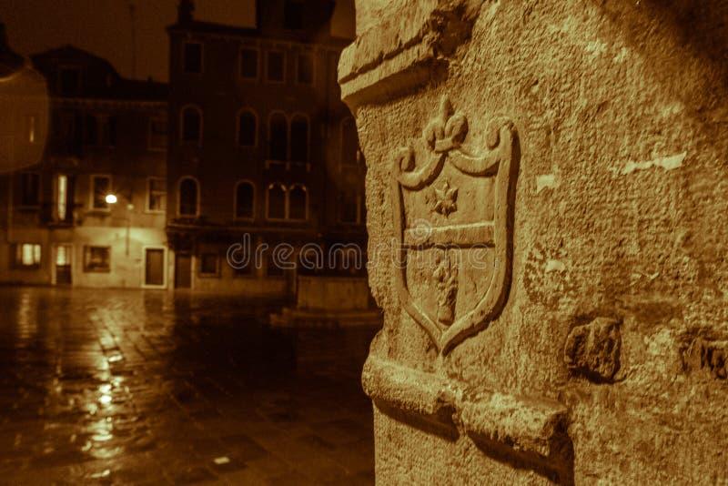 威尼斯参观,当游人不在那里 图库摄影