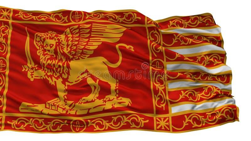 威尼斯市旗子,意大利,隔绝在白色背景 向量例证