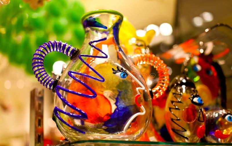 威尼斯式五颜六色的玻璃的纪念品 免版税库存照片