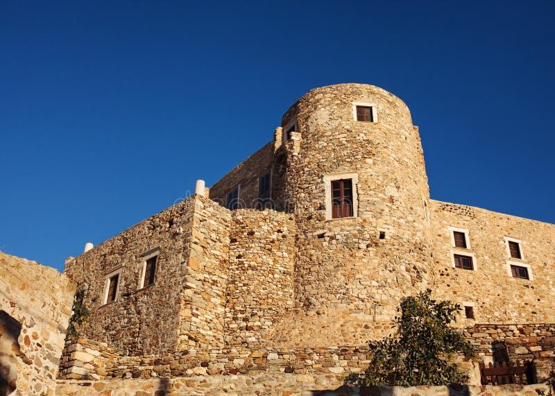 威尼斯式城堡在纳克索斯,希腊 免版税图库摄影