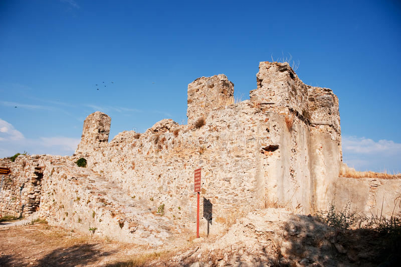 威尼斯式城堡的koroni 免版税库存照片