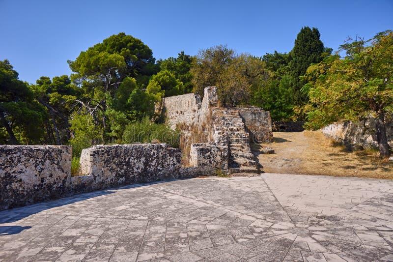 威尼斯式堡垒的废墟 库存照片