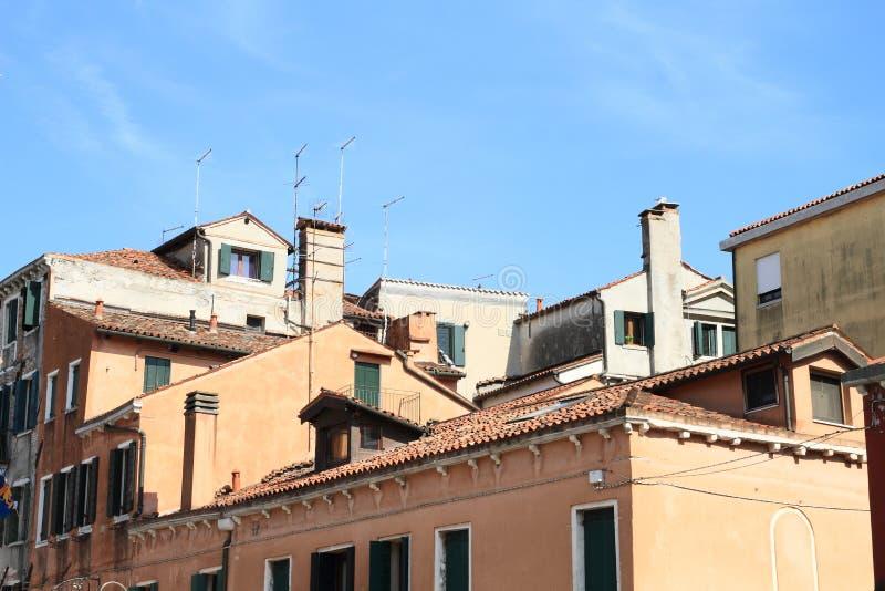 威尼斯式房子屋顶 库存照片