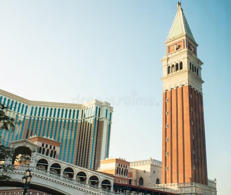 威尼斯式旅馆,澳门 库存照片