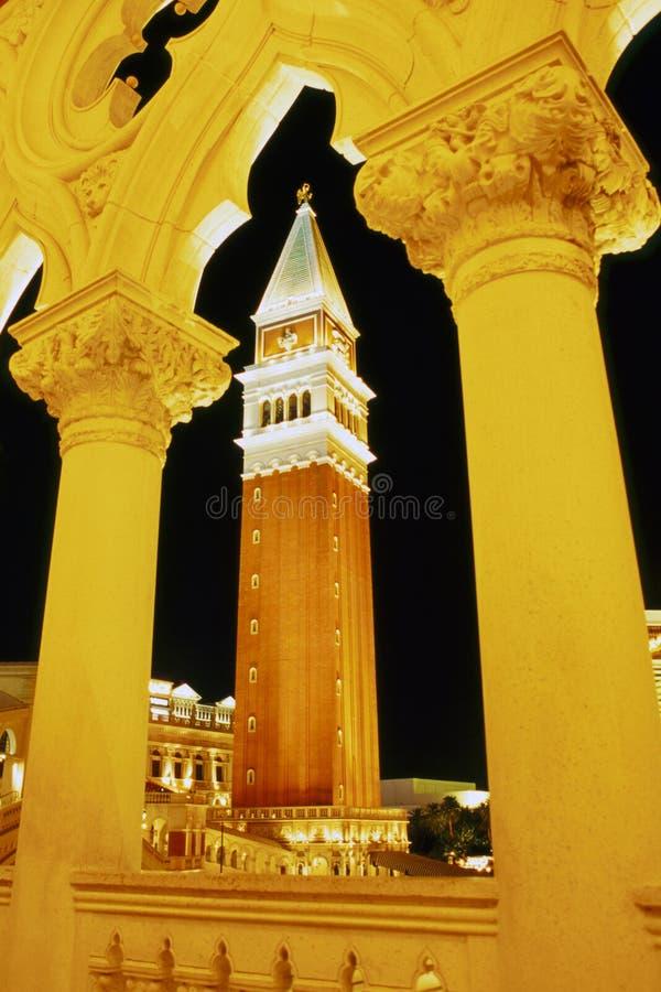 威尼斯式晚上的塔 库存照片