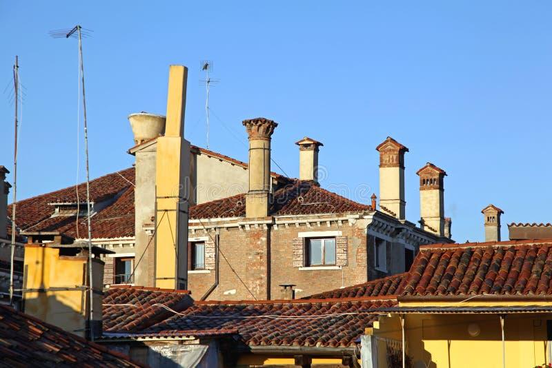 威尼斯式烟囱 库存照片