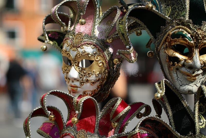 威尼斯式狂欢节面具待售 库存图片