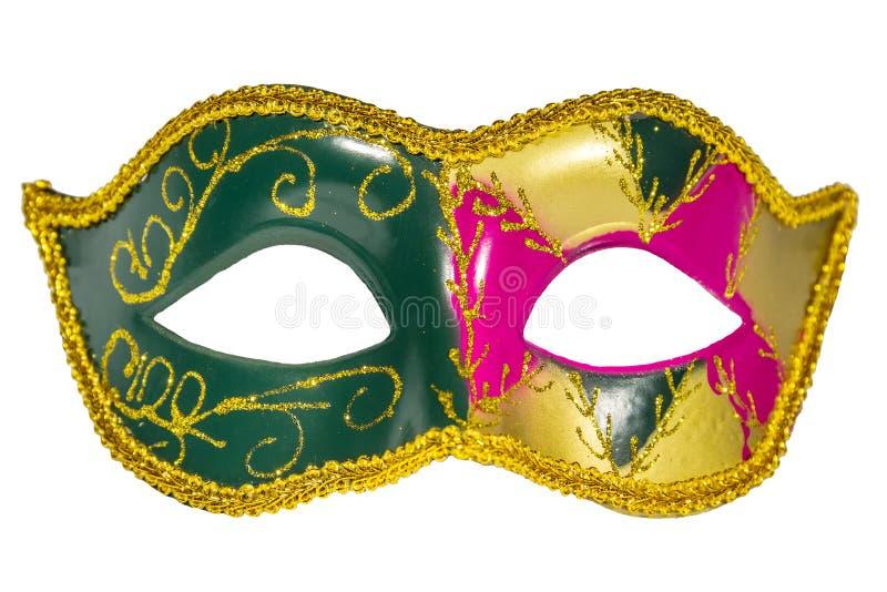威尼斯式狂欢节面具被仿造的不对称的前面图片 免版税库存照片