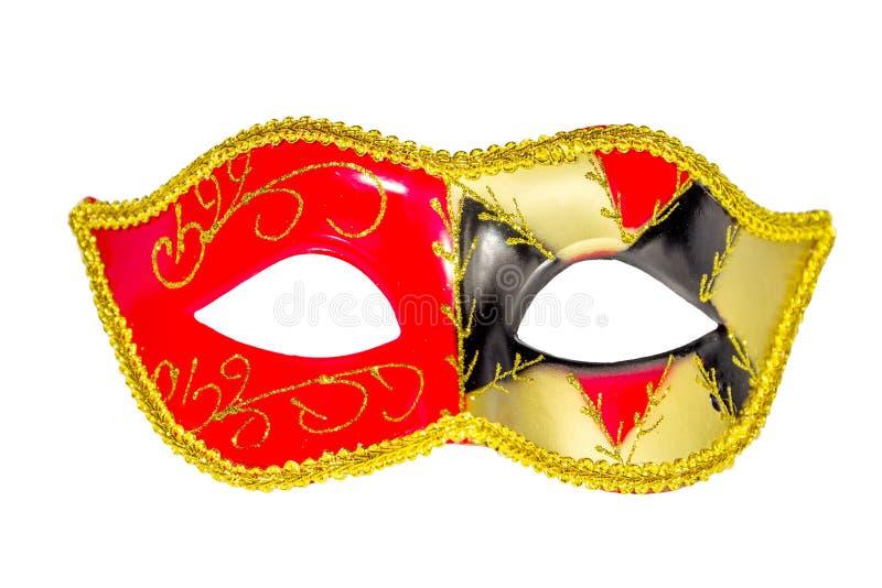 威尼斯式狂欢节面具被仿造的不对称的前面图片 库存图片