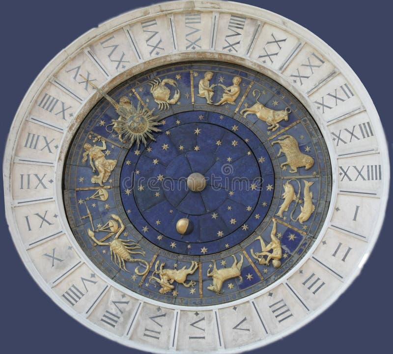 威尼斯式的时钟 图库摄影