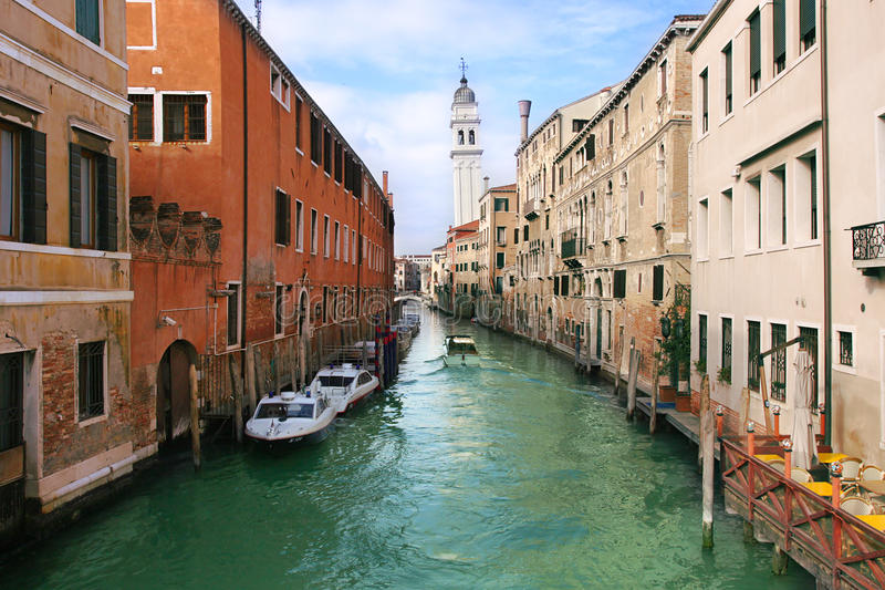 威尼斯式的运河 图库摄影