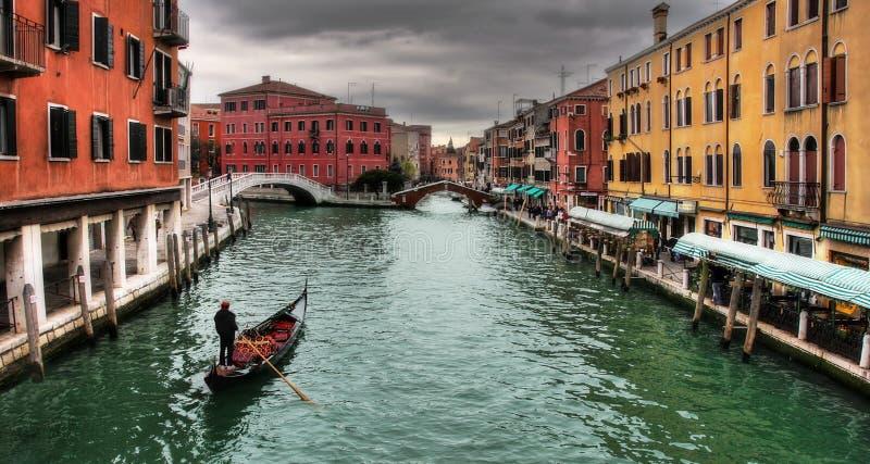 威尼斯式的运河 库存照片