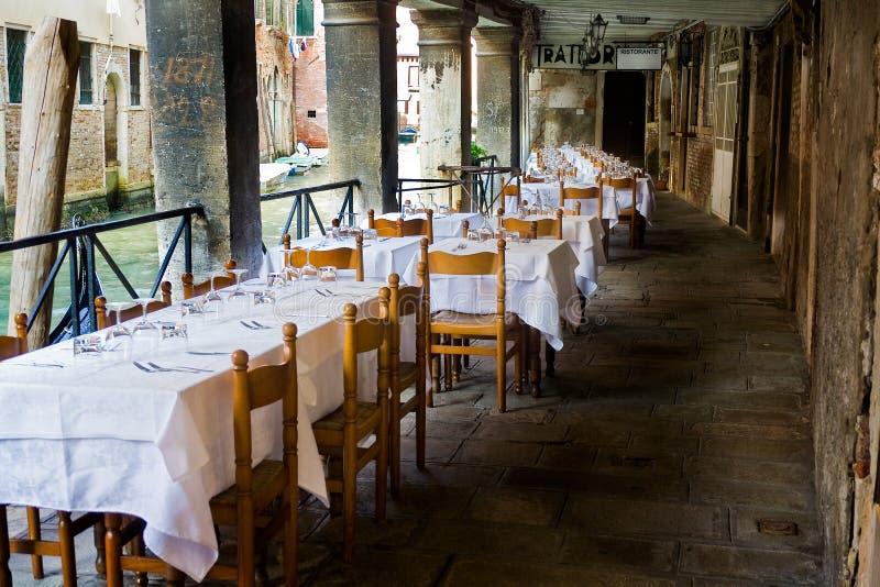 威尼斯式的餐馆 库存照片