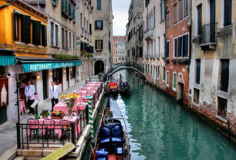 威尼斯式运河。 免版税库存照片