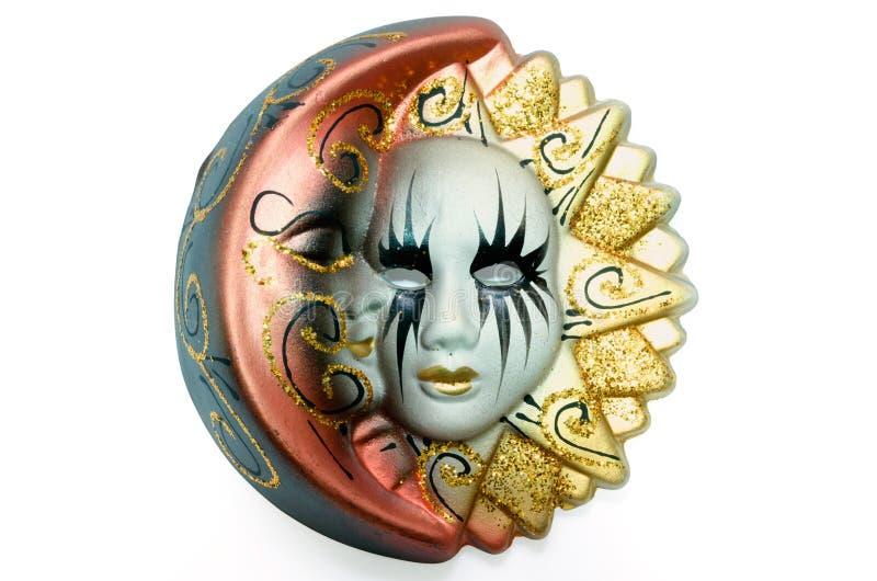 威尼斯式面具太阳和月亮 免版税库存图片