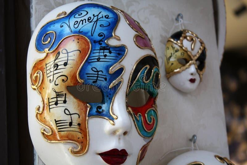 威尼斯式面孔妇女面具 免版税库存图片