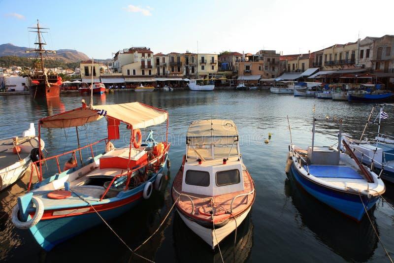 威尼斯式黄昏的港口 免版税库存照片