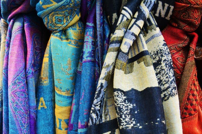 威尼斯式围巾背景和纹理 库存图片