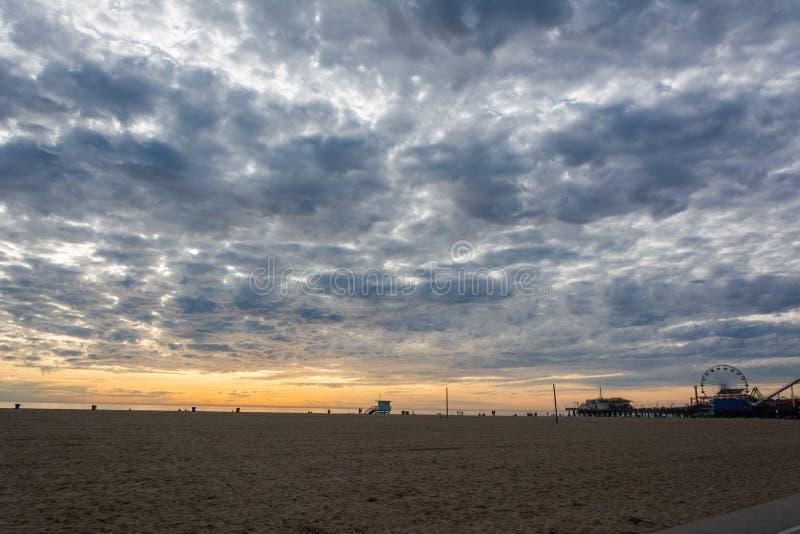 威尼斯海滩在圣莫尼卡,加州 库存照片
