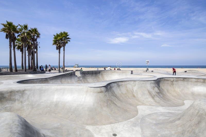 威尼斯海滩冰鞋公园在洛杉矶 库存照片