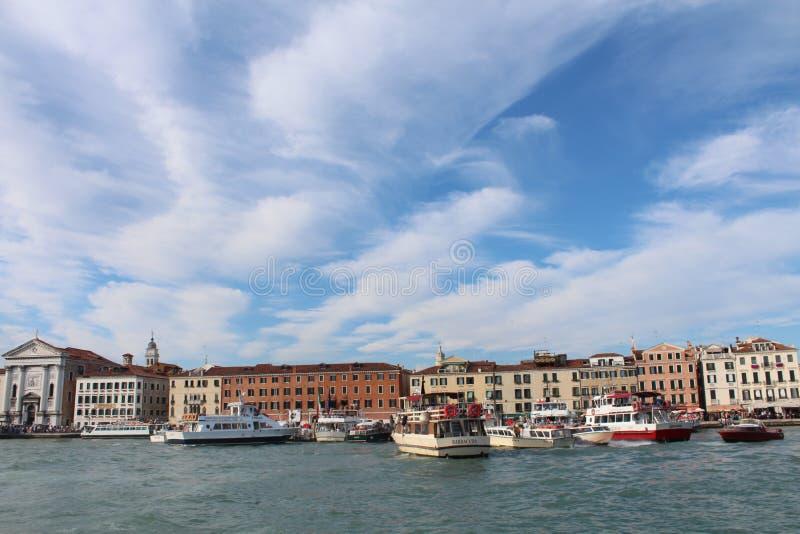 威尼斯看法从海岸的 图库摄影