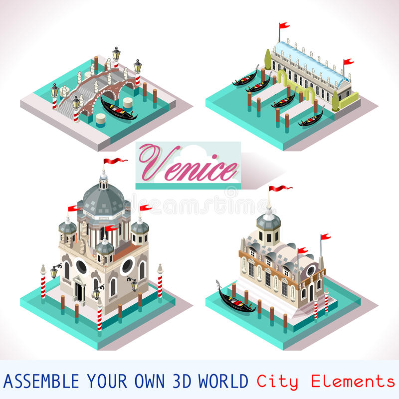 威尼斯等量03个的瓦片 皇族释放例证