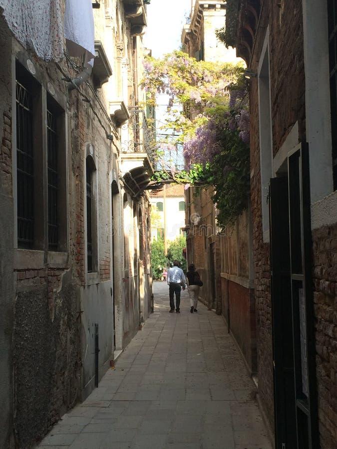 威尼斯街道视图 图库摄影
