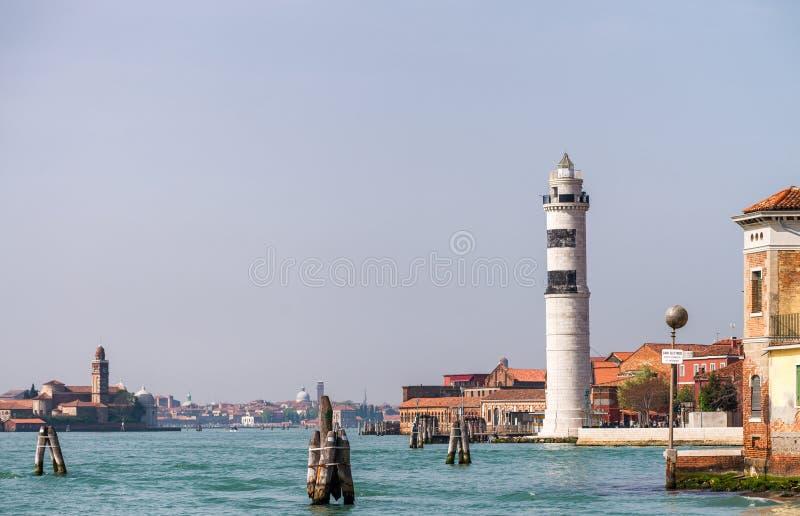 威尼斯运河美丽的景色  免版税图库摄影