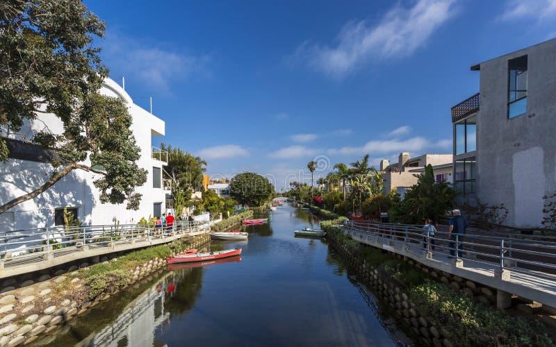 威尼斯运河,威尼斯海滩,洛杉矶,加利福尼亚,美国,北美洲 库存图片