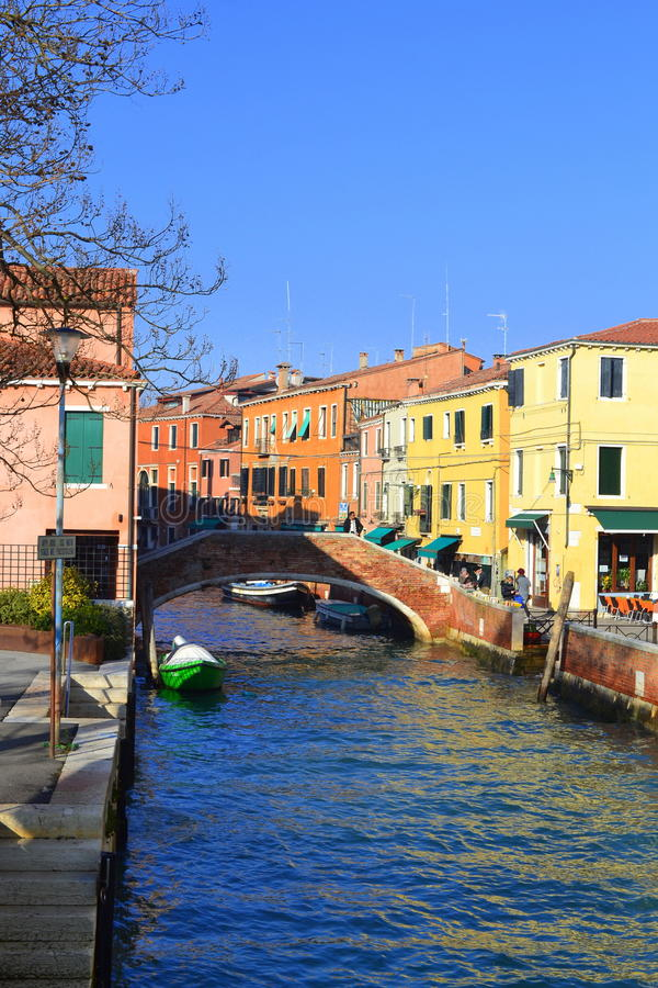 威尼斯运河,意大利 免版税库存照片