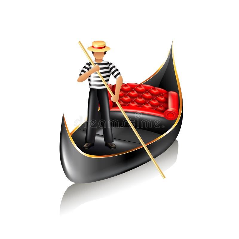 威尼斯长平底船传染媒介 库存例证