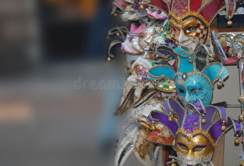 威尼斯面具 免版税库存图片