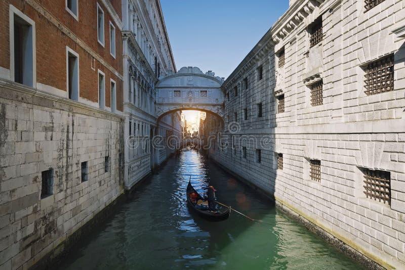 威尼斯,叹气桥梁  免版税图库摄影