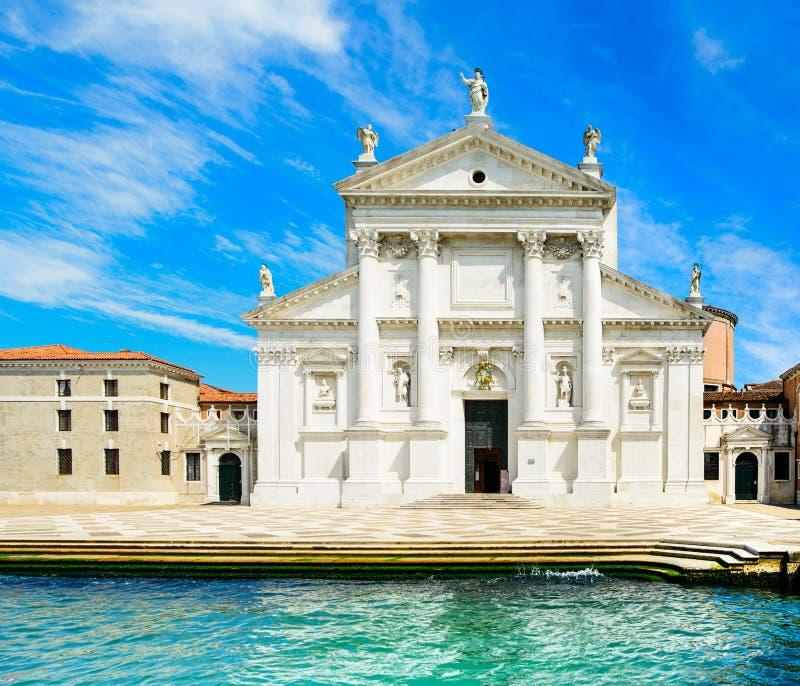 威尼斯,圣乔治教会, Giudecca海岛,大运河,意大利 免版税库存照片