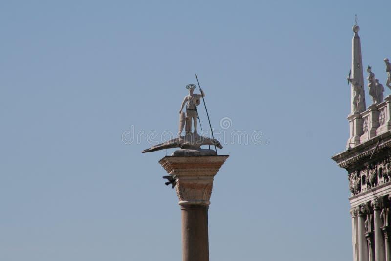 威尼斯,圣特奥多罗专栏 库存照片