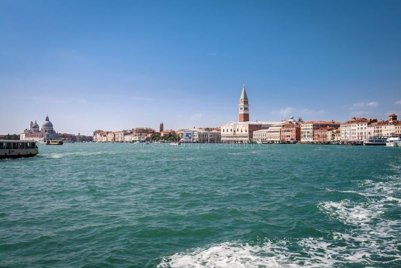 威尼斯,意大利地平线  库存照片