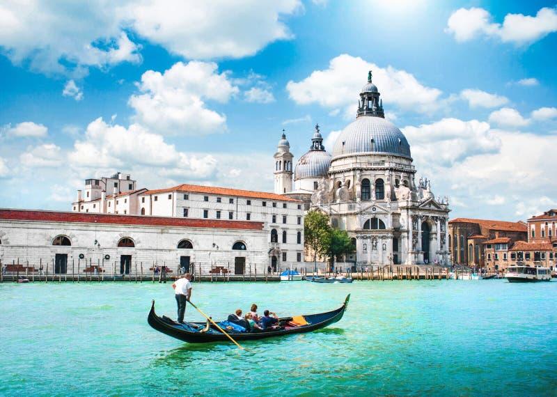 威尼斯,意大利风景明信片视图  库存图片