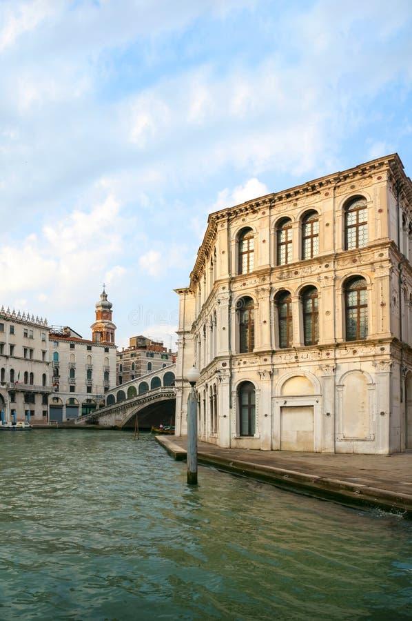威尼斯,意大利, Rialto桥梁 库存照片