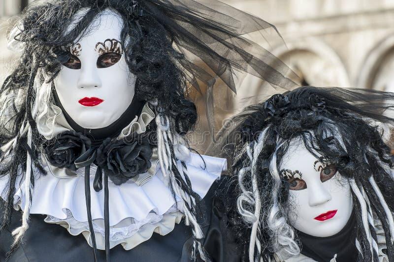 威尼斯,意大利- 2018年2月5日-狂欢节面具2018年 库存照片