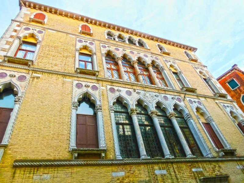 威尼斯,意大利-老房子 免版税库存图片