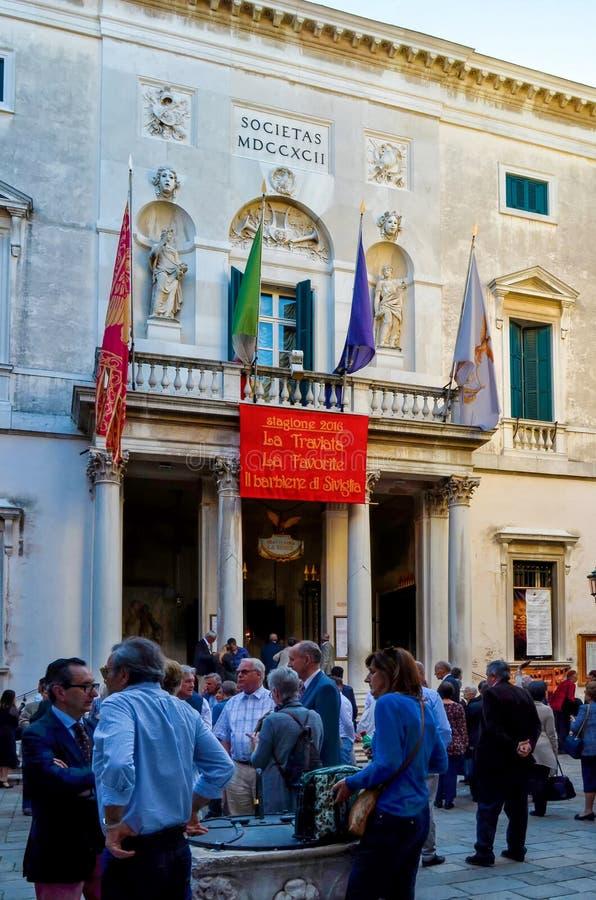 威尼斯,歌剧院La Fenice 库存照片