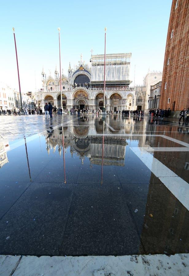 威尼斯, VE,意大利- 2015年1月31日:圣马克的大教堂duri 免版税库存图片