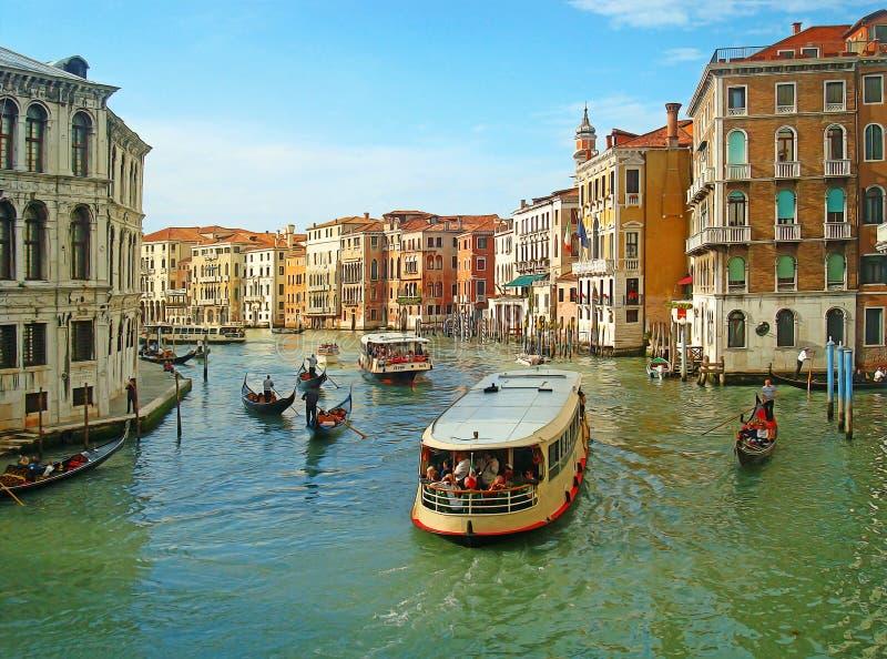 威尼斯 与软的油画过滤器的五颜六色的看法 库存照片