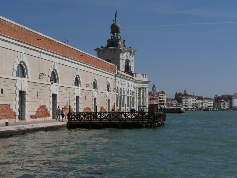 威尼斯-从海关海角的全景  免版税库存照片